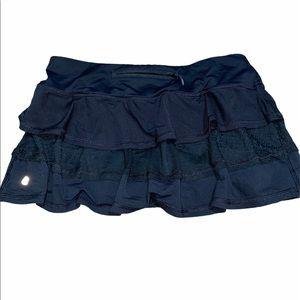 Lululemon Run Pace Setter Skirt Mesh Size 6